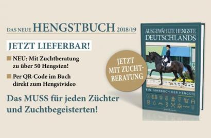 Jetzt lieferbar: Ausgewählte Hengste Deutschlands 2018/19 NEU: Mit Zuchtberatung zu über 50 Hengsten!