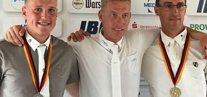 Überraschung auch für den Sieger: Mario Stevens Deutscher Meister