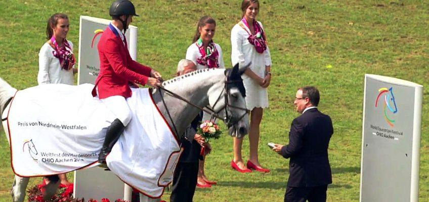 McLain Ward gewinnt Preis von NRW in Aachen, Maurice Tebbel Vierter