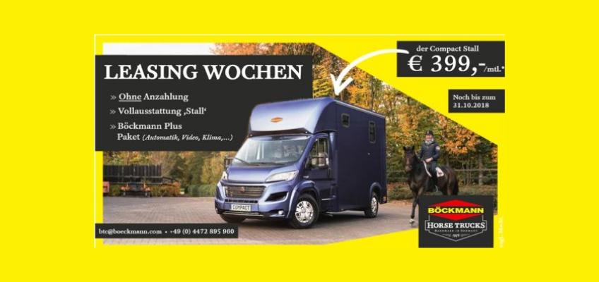 Truck Leasing Wochen bei Böckmann – €399,- zzgl. MwSt für einen vollausgestatteten Transporter