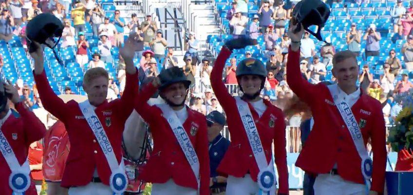 Junge deutsche Mannschaft gewinnt Bronze bei Weltreiterspielen!
