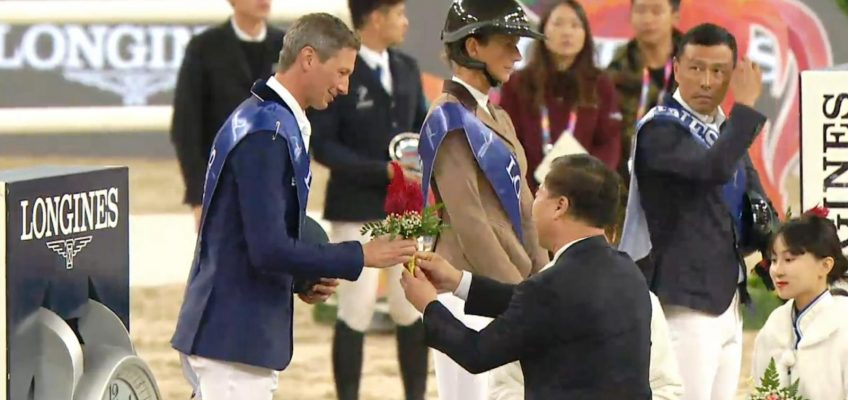 Penelope Leprevost vor Daniel Deusser im Grand Prix von Peking