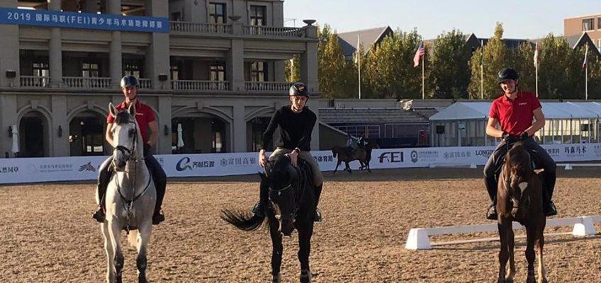 Deutsche Junge Reiter starten gut mit Leihpferden ins CSIO Tianjin