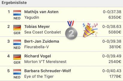 Tobias Meyer holt Silber im Hauptspringen in Peelbergen!