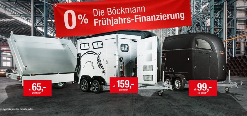 Die Böckmann 0% Frühjahrs-Finanzierung 2020