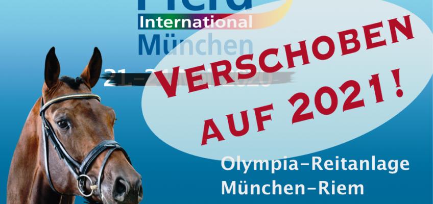 Pferd International München muss auf 2021 verschoben werden