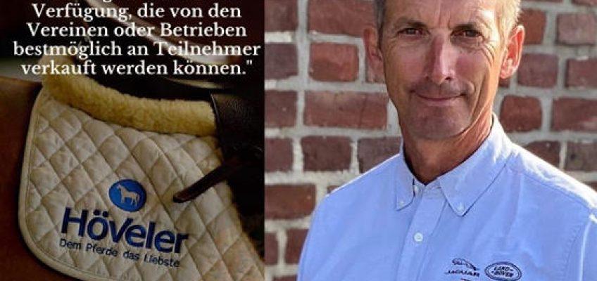 Holger Hetzel und Höveler: Tolles Hilfsangebot für Reitvereine