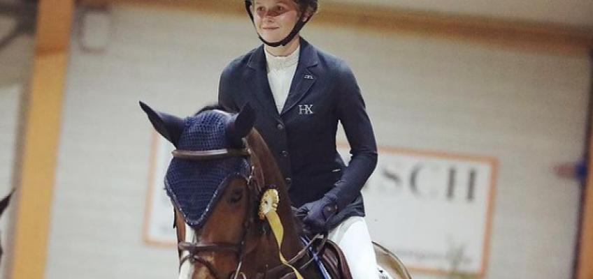 Sophie Hinners vor Daniel Deusser im Grand Prix von Lier
