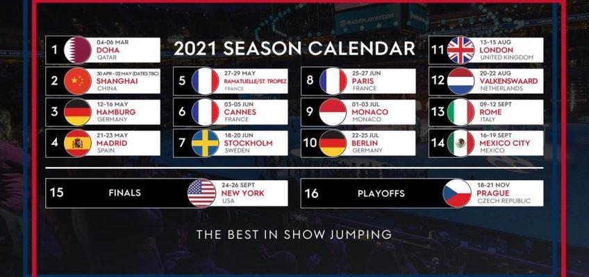 Longines Global Champions Tour und Global Champions League: Der Turnier-Kalender für 2021 steht fest!