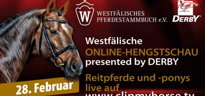 Westfalen-Hengstschau im Wohnzimmer – presented by DERBY