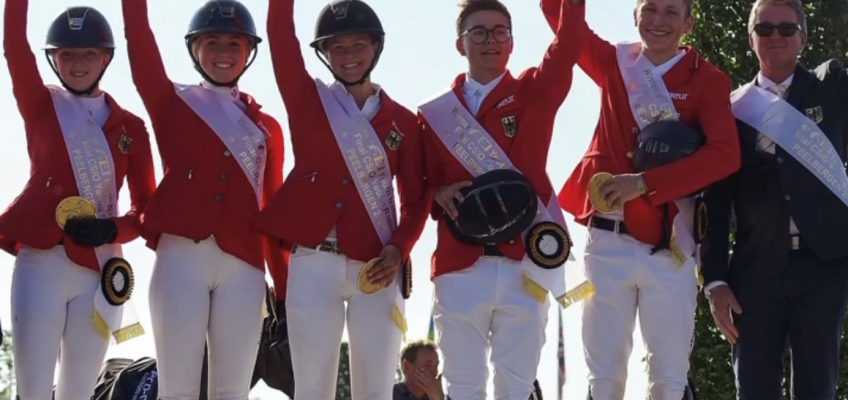 Deutschlands Junge Reiter gewinnen Finale in Peelbergen