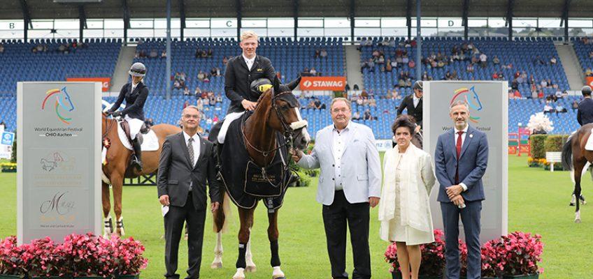 Philipp Schulze Topphoff schnappt Richard Vogel den Sieg in der Quali zum U25 Springpokal der Stiftung Deutscher Spitzenpferdesport weg!